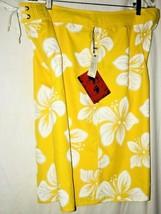 9f53e47760 Mens 36 First Wave Board Shorts Yellow Hawaiian Swim Trunks Roundtree &  Yorke - $15.13