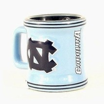 NORTH CAROLINA TAR HEELS (UNC) Shot Glass NCAA Teams Sculpted Ceramic 2 ... - $8.89