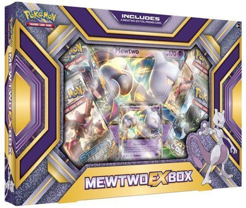 Mewtwo EX Collection Box Pokemon TCG Trading Card Game 4 Booster Packs