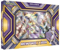 Mewtwo EX Collection Box Pokemon TCG Trading Card Game 4 Booster Packs - $20.99