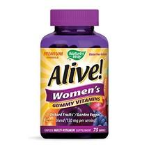 Nature's Way Alive! Women's Premium Gummy Multivitamin, Full B Vitamin Complex,