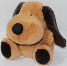 Snuggie Toy BROWN FLOPPY EARED PUPPY DOG Stage HAND PUPPET Stuffed Plush... - $16.82
