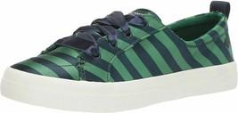 Sperry Crest Vibe Varsity Stripe Satin Sneaker, Navy/Green, 9 - $67.16 CAD