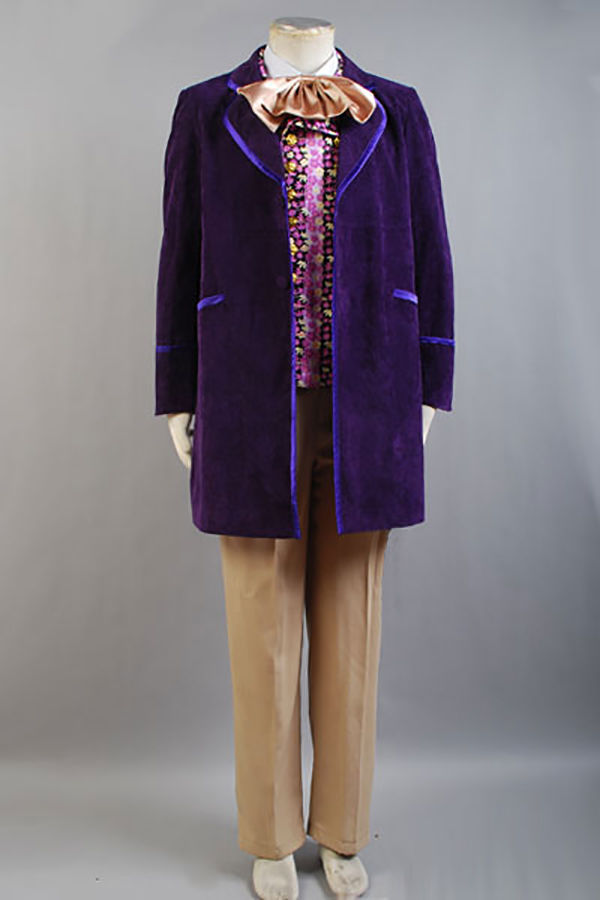 1971 Gene Wilder Willy Wonka and the Chocolate Factory Cosplay Costume Suit