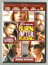 GEORGE CLOONEY ~ BRAD PITT ~ FRANCES McDORMAND * BURN AFTER READING * DVD - $3.00