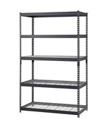 5 Shelf Metal Storage Rack Steel Shelving Adjustable Heavy Duty 48 x 24 ... - $140.48