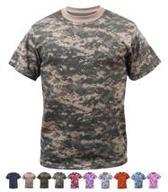 Digital Camo Tactical T-Shirt Camouflage Military Tee Short Sleeve Digi ... - $10.99+