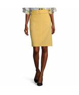 Liz Claiborne Women's Mid Rise Belted Pencil Skirt Size 6 Sunlight Yello... - £21.74 GBP