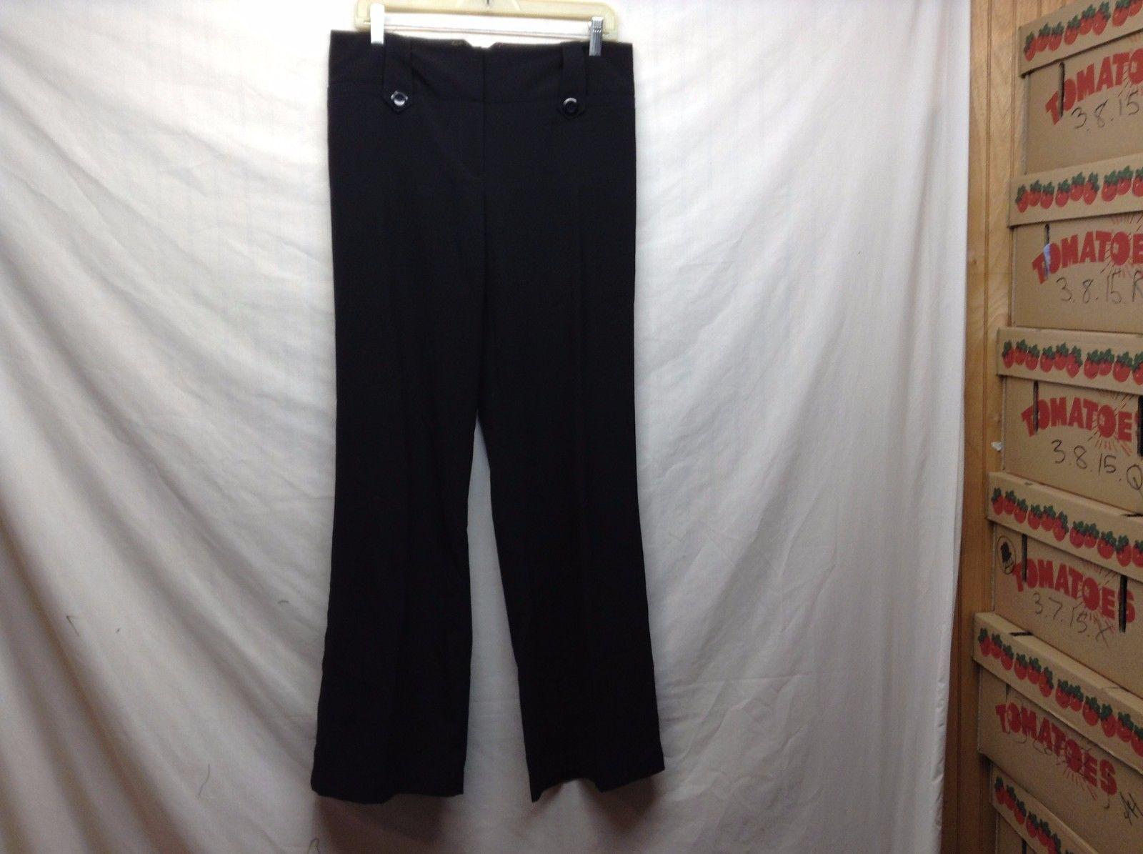 Iz Byer New York Fit Black Bell Bottom Pants Sz 9