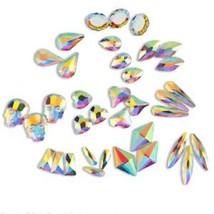 20 50 100pcs 3D Nail Art Rhinestones Flat Shaped Elongated Glass Colorfu... - $7.99