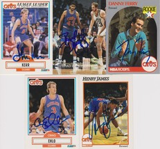 Cleveland Cavaliers Signed Lot of (5) Trading Cards - Kerr, Dougherty, F... - $14.99