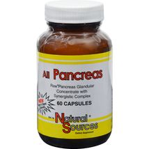 Natural Sources All Pancreas - 60 Capsules - $10.99