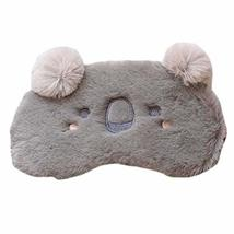 Cute Grey Koala Plush Eyeshades Cartoon Sleeping Eye Mask Adjustable Blackout Ey