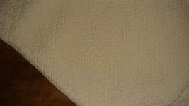 Pottery Barn Diamond Matelasse Standard Ivory Pillow Sham Made in Portugal - $24.72