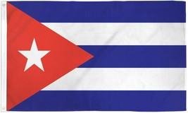 "CUBA 3X5' FLAG NEW 3 X 5 FEET 36X60"" BIG CUBAN - $9.85"