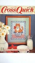 Cross Quick Magazine  Cross  Stitch Patterns April May 89 Volume 1 Numb... - $2.96