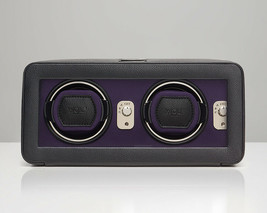 WOLF Windsor 2.5 Double Automatic Watch Winder with Cover Box Case Black... - $495.00
