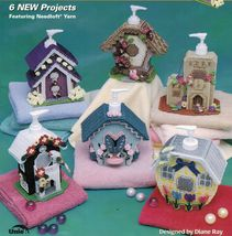Plastic Canvas Liquid Soap Cottages Adobe Pueblo Chalet Manor Pattern - $12.99