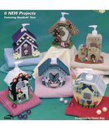 Plastic Canvas Liquid Soap Cottages Adobe Pueblo Chalet Manor Pattern - $12.99