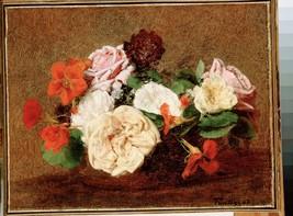 Fantin-Latour, Henri - Roses and Nasturtiums in... - $22.99 - $229.00