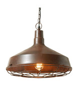 Barn Pendant | Industrial Metal Cage Light Fixture - $107.75