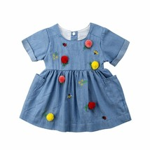 pudcoco Toddler Kids Baby Girls  Dress Pocket Colorful Birthday Party Dress - $9.40+