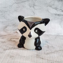 Animal Planters with Succulents, Fox and Raccoon, 3 inches, ceramic image 6
