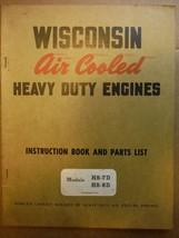 Wisconsin Engines vintage 1960s instruction manual parts list model HS-7D HS-8D - $11.48