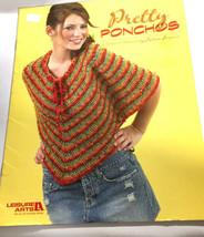 Leisure Arts Pretty Ponchos Crochet 4 Patterns Designs Book #3937 NEW - $14.13
