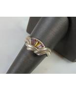 Womens Vintage Estate Sterling Silver CZ Ring 3.5g  E5161 - $24.75
