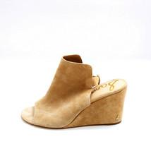 Sam Edelman Women Warick Suede Wedge Slingback Sandals Tan Camel 9.5M - $37.61