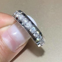 2Ct Round Cut Moissanite Wedding Eternity Band Ring Solid 18K White Gold... - $107.99