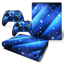Xbox One X Skin Console & 2 Controllers Blue Stars Vinyl Decal Wrap - $14.82