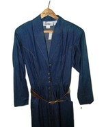 Vintage John Ranta Denim Dress w/ Tags Size 8 Ladies Western 14856 - $59.39
