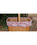 Longaberger Basket Garter Large Red & White Stripe Fabric Garter Only - $11.83