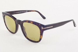 Tom Ford EUGENIO 676 Havana / Green Sunglasses TF676 52N 52mm - $175.42