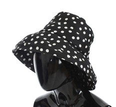 Dolce & Gabbana Black White Wide Brim Bucket Hat - $276.59