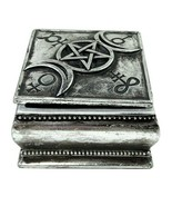 Alchemy Gothic Triple Moon Pot Wiccan Trinket Box Lid Antiqued Silver Re... - $19.95