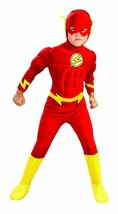 RUBIES FLASH DELUXE MUSCLE CHEST DC COMICS CHILD HALLOWEEN COSTUME 882308 - £13.40 GBP+