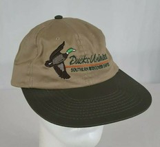 Ducks Unlimited Southern Wisconsin Chapter Snapback Hat Cap Tan Embroidered - $21.00
