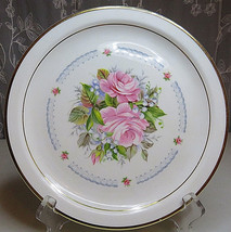 ROYAL KENT Bone China Plate Staffordshire England Bouquet of Flowers Rose - $17.00