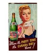 Canada Dry Mask Woman 1939 New York World's Fair NYWF Advertising Graphi... - $18.99