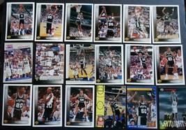 1993-94 Upper Deck San Antonio Spurs Team Set Of 18 Basketball Cards Mis... - $3.99