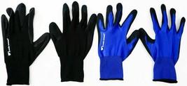 Wells Lamont 5 Pack Mens Foam Latex Work Gloves Medium Blue and Black image 1