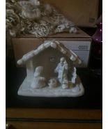 VINTAGE NATIVITY scene - ceramic -could be painted -Christmas Decor / De... - $5.00