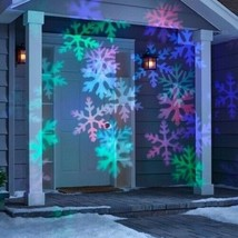 Philips Christmas Holiday LED Motion Projector Multicolor Snowflake Patterns NEW image 2