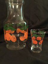 anchor hocking juice carafe and glass usa - $25.00