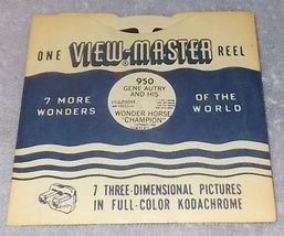 Sawyer's View Master Reel Gene Autry and his Wonder Horse Champion #950 - $5.95