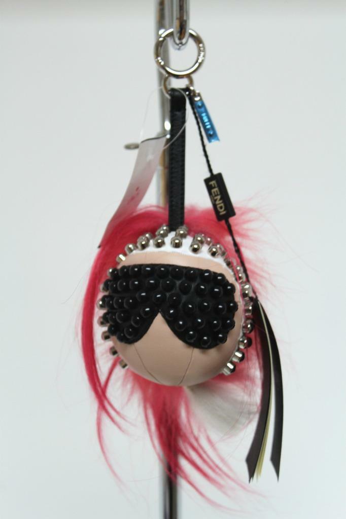 New $1100 Fendi Karlito Punkarlito Monster Studded Charm Bag image 8