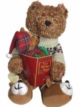 "Twas The Night Before Christmas Animated Talking Teddy Bear & Cub 16"" 20... - $55.39"